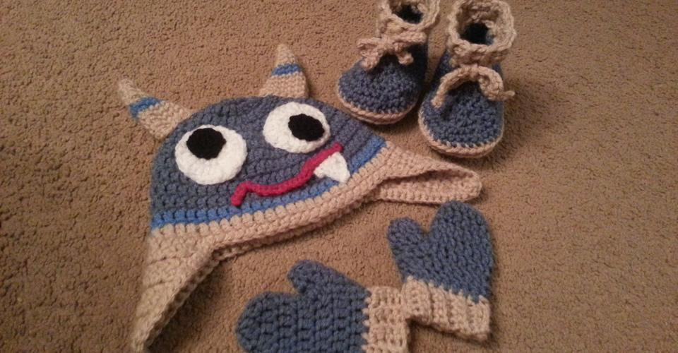 Monster Hat, Mits and Shoes